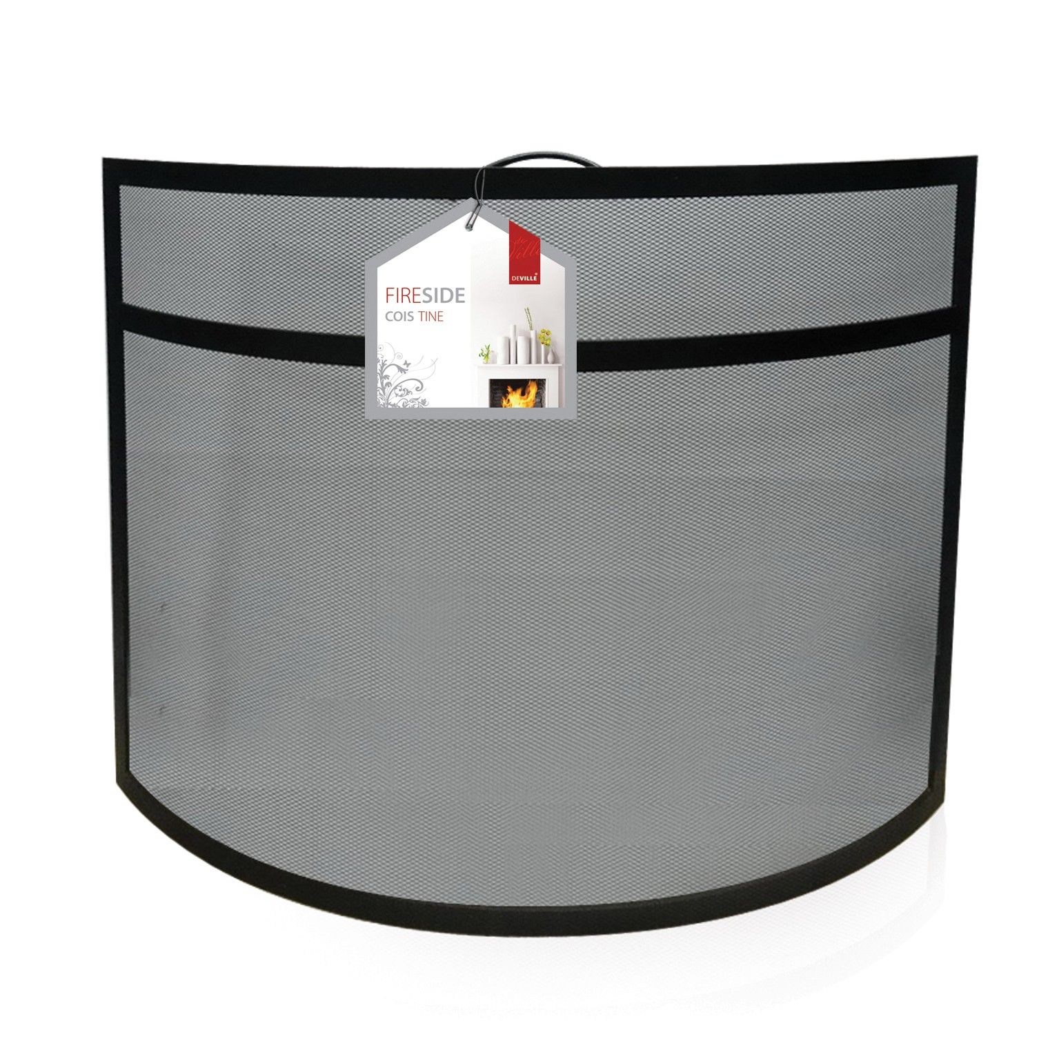 Curved Clear Glass Fireguard