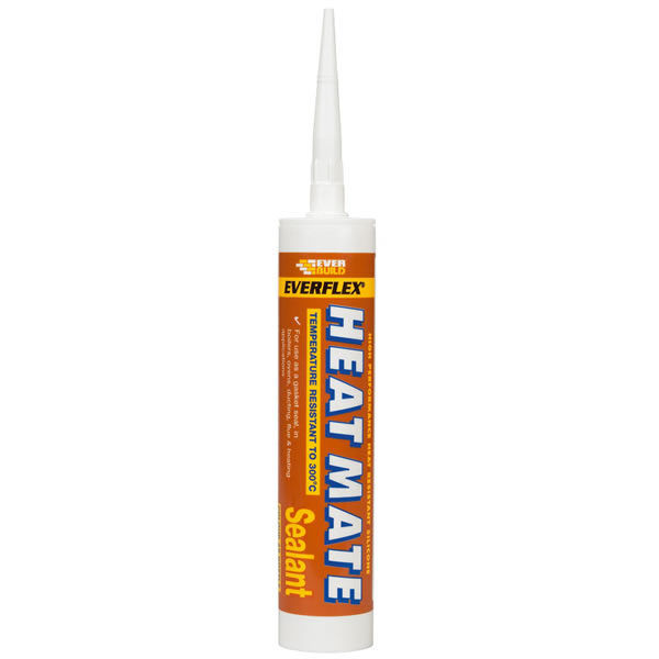 Heat Mate Heat Resistant Silicone Sealant use with Vermiculite Fire Boards